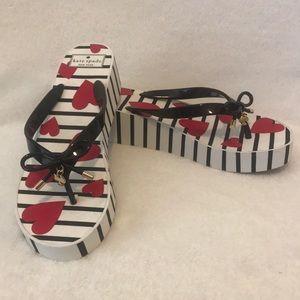 Kate Spade size 10 wedge flip flops